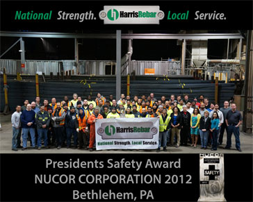 Presidents Safety Award - Nucor Corporation 2012